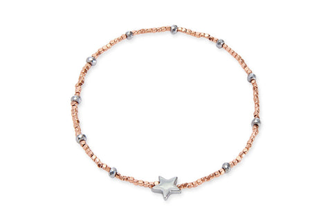 Luna Sea Dragon Rose Gold Beaded Star Bracelet from Boho Betty - Zarabelle