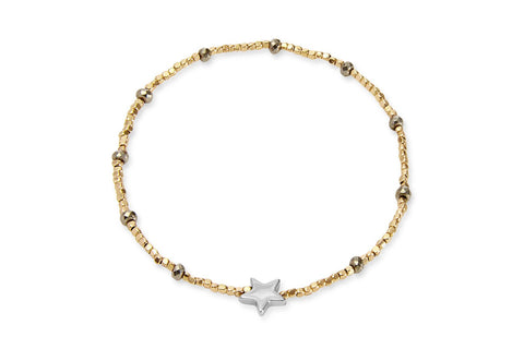 Luna Seahorse Gold Beaded Star Bracelet from Boho Betty - Zarabelle