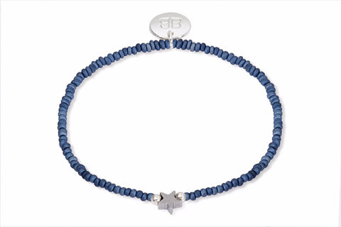 Situla Blue Beaded Star Bracelet from Boho Betty - Zarabelle