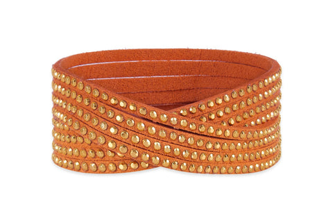 Sunflower Rust Double Wrap Suede Bracelet from Boho Betty - Zarabelle