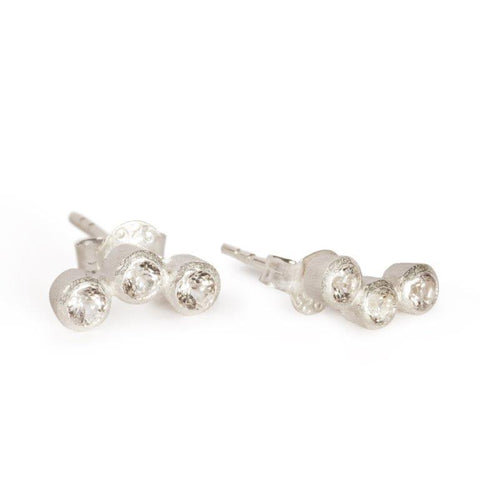 Trio of Stella Earrings - Silver from Black Betty - Zarabelle