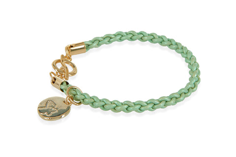 Wilderness Green Braided Leather Bracelet from Boho Betty - Zarabelle