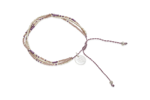 Yoshi Purple & Grey Japanese Beaded Friendship Bracelet from Boho Betty - Zarabelle