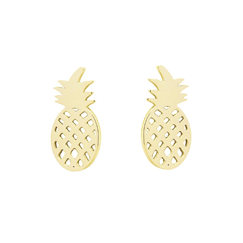 Pineapple Shaped Stud Earrings from Anartxy - Zarabelle
