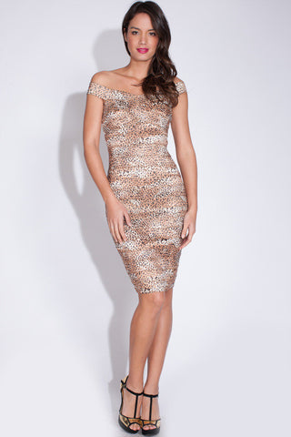 Bandage Animal Print Dress