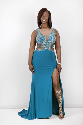Couture Gown Teal