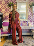 Burgundy One Sided Jumpsuit