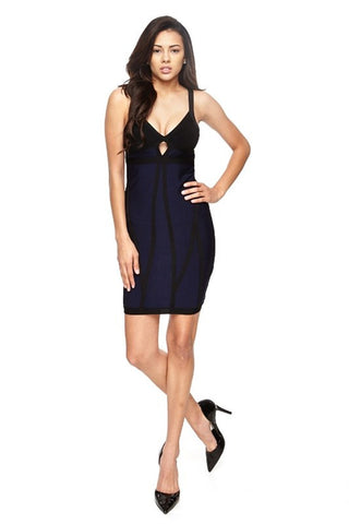 Bandage Dress Navy/Black