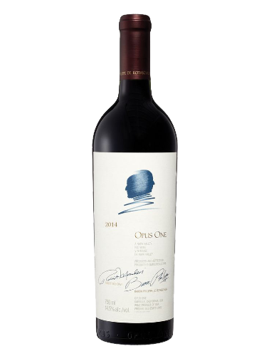 A bottle of 2014 Opus One Napa Valley Cabernet Blend wine - ITM23988