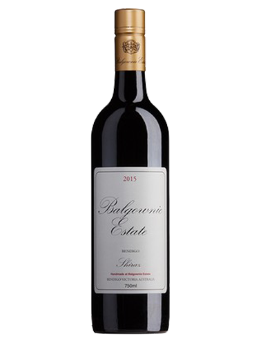 A bottle of 2015 Balgownie Estate Shiraz wine - ITM40411