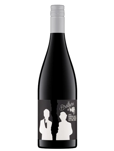 A bottle of 2015 Bros At War Single Vineyard Barossa Shiraz wine - ITM19733