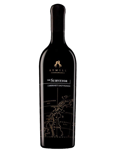 A bottle of 2015 Rymill The Surveyor Cabernet Sauvignon wine - ITM26329