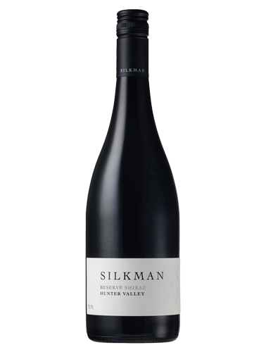 A bottle of 2015 Silkman Reserve Shiraz wine - ITM23119