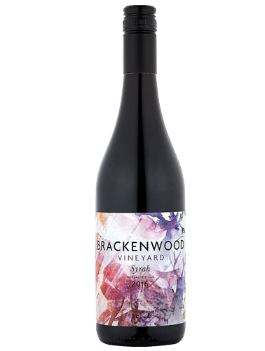 A bottle of 2016 Brackenwood Syrah wine - ITM21160
