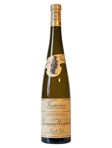 A bottle of 2016 Weinbach Grand Cru Furstentum Gewurztraminer wine - ITM26326