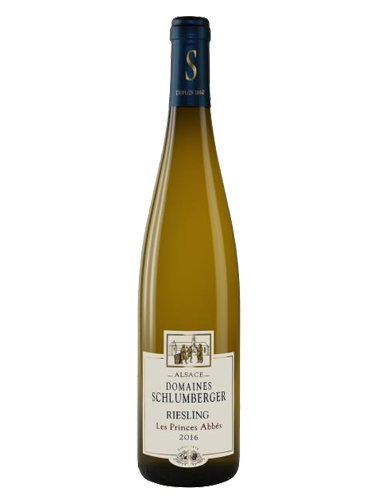 A bottle of 2016 Domaines Schlumberger Riesling Les Princes Abbes wine - ITM26459