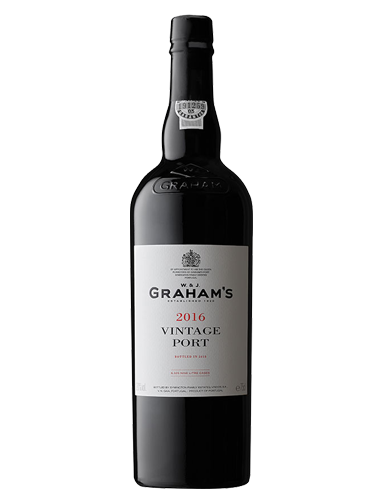 A bottle of 2016 Graham Vintage Port wine - ITM27324