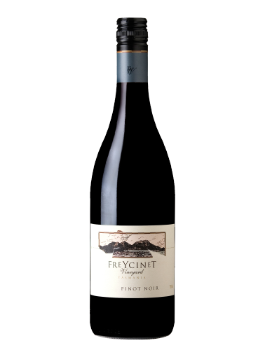 A bottle of 2017 Freycinet Pinot Noir wine - ITM25267