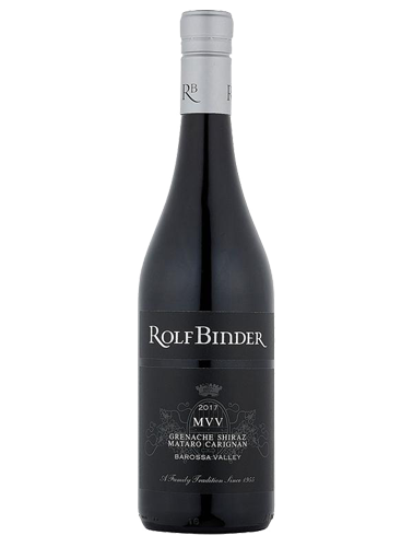 A bottle of 2017 Rolf Binder MVV Barossa Grenache Shiraz Mataro Carignan wine - ITM22915