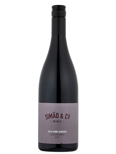 A bottle of 2017 Simao & Co. Shiraz wine - ITM23436