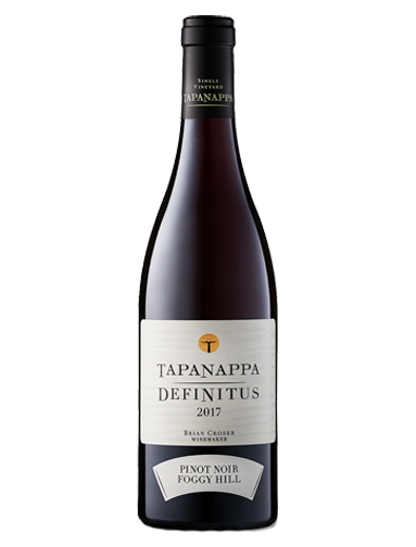 A bottle of 2017 Tapanappa Foggy Hill Vineyard Definitus Pinot Noir wine - ITM27807