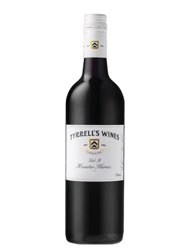 A bottle of 2017 Tyrrell's Vat 9 Shiraz wine - ITM27860