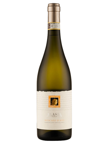 A bottle of 2018 Alasia Moscato d'Asti DOCG wine - ITM26463