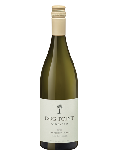 A bottle of 2018 Dog Point Sauvignon Blanc wine - ITM26113