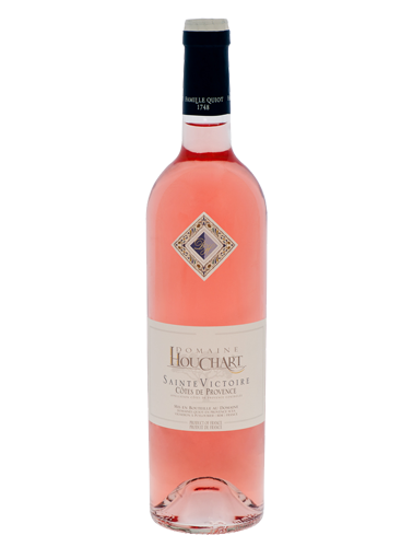 A bottle of 2018 Domaine Houchart Sainte Victoire Rose wine - ITM36306