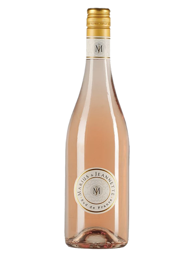 A bottle of 2018 Marius & Jeannette Rose Pays d'Oc wine - ITM37899