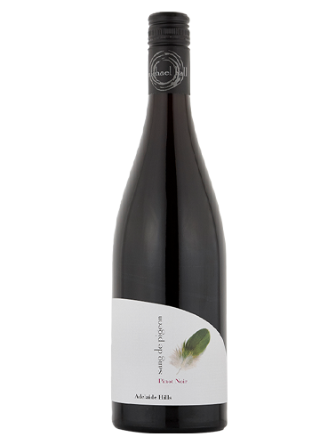 A bottle of 2018 Michael Hall Sang de Pigeon Adelaide Hills Pinot Noir wine - ITM36035