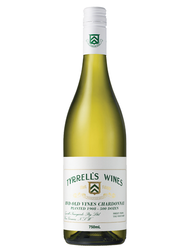 A bottle of 2018 Tyrrell's HVD 'Old Vines' Chardonnay wine - ITM26135