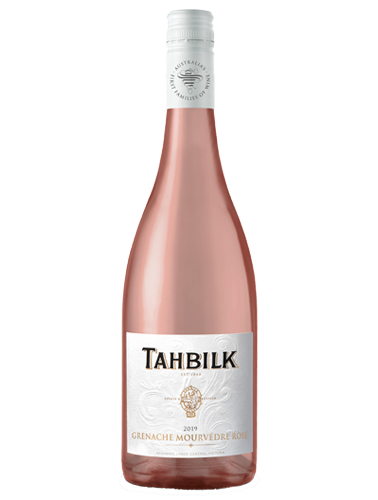 A bottle of 2019 Tahbilk Grenache Mourvedre Rose wine - ITM40784