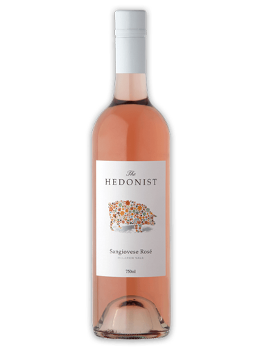 A bottle of 2019 Hedonist Sangiovese Rose wine - ITM30558