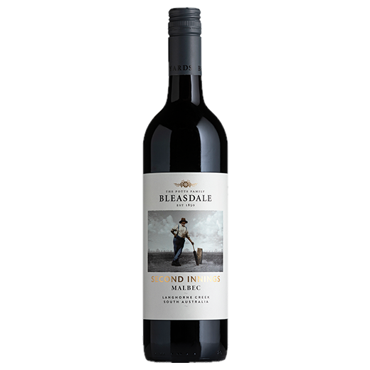 2018 Bleasdale Vineyards Second Innings Malbec (ITM59209) single bottle shot