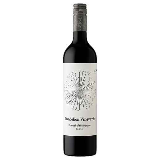 A bottle of 2018 Dandelion Vineyards Damsel of the Barossa Merlot wine - ITM43581