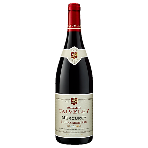 A bottle of 2017 Faiveley Mercurey La Framboisiere wine - ITM42673