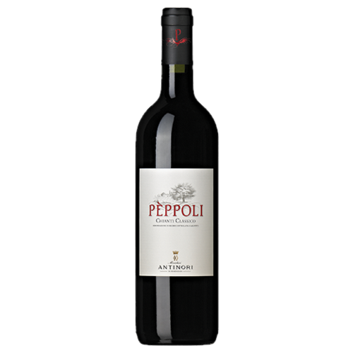 A bottle of 2017 Antinori Peppoli Chianti Classico DOCG wine - ITM27818