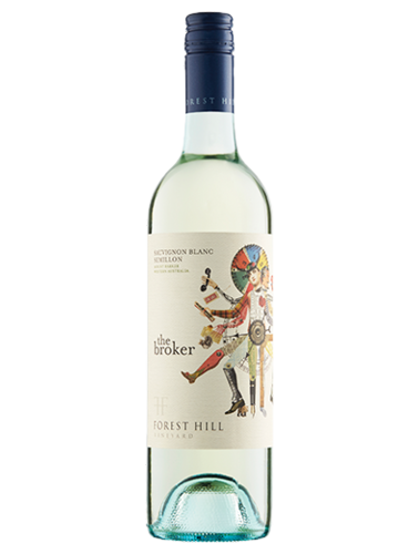 A bottle of 2016 Forest Hill The Broker Sauvignon Blanc Semillon wine - ITM36551