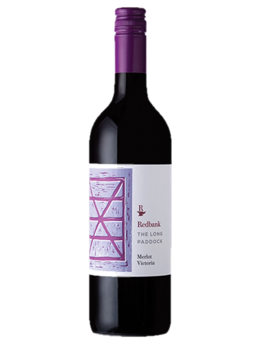 A bottle of 2018 Redbank The Long Paddock Merlot wine - ITM36783