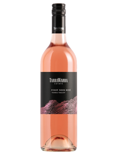 A bottle of 2018 TarraWarra Estate Pinot Noir Rose wine - ITM36822