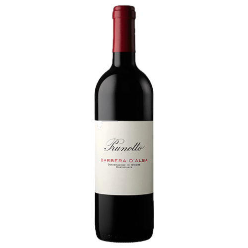 A bottle of 2018 Prunotto Barbera d'Alba wine - ITM38087