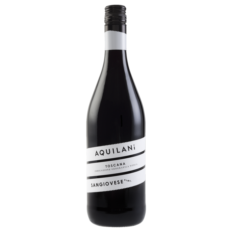 A bottle of 2018 Aquilani Sangiovese wine - ITM38340