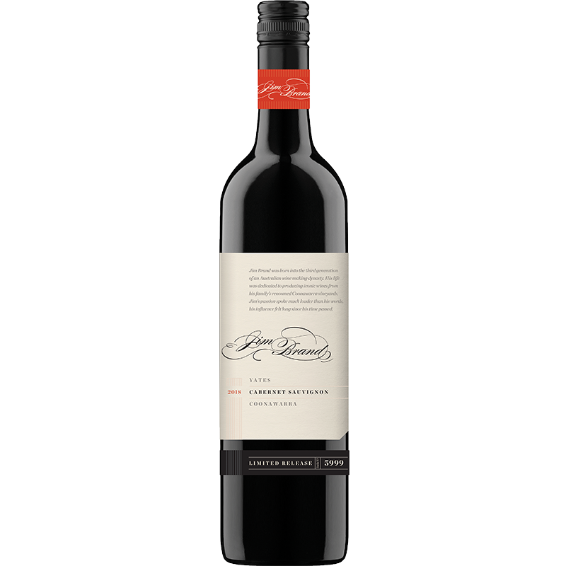 2018 Jim Brand 'Yates' Limited Release Coonawarra Cabernet Sauvignon 2018 BIS (M) (ITM44369) single bottle shot