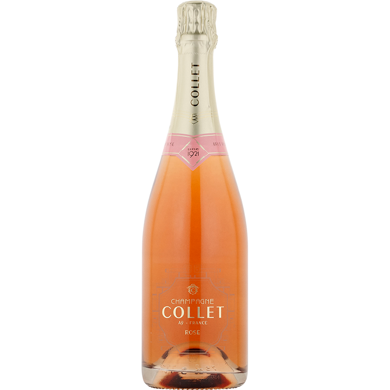 A bottle of NV Collet Brut Rose wine - ITM6651