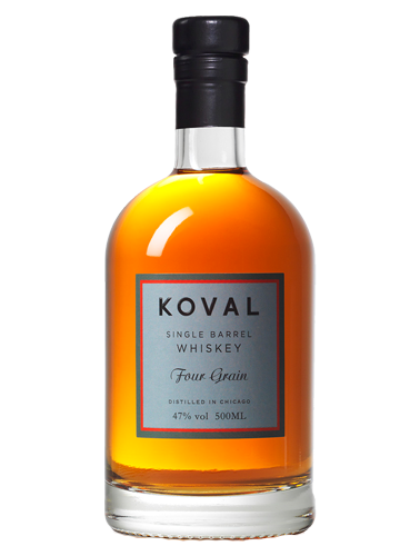 A bottle of Koval Four Grain Whiskey - ITM25287