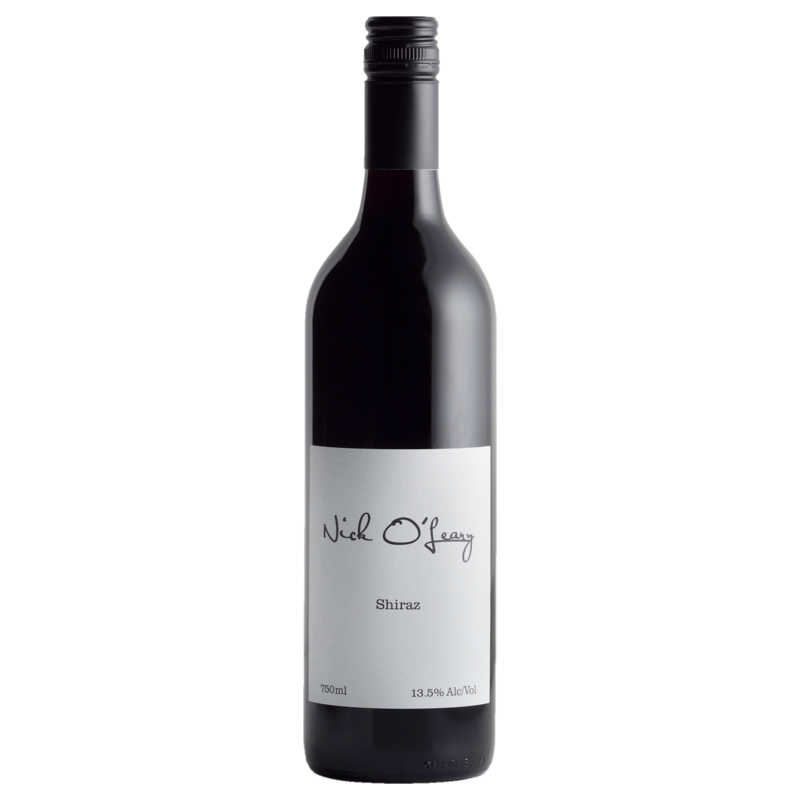 A bottle of 2018 Nick O'Leary Shiraz wine - ITM44700