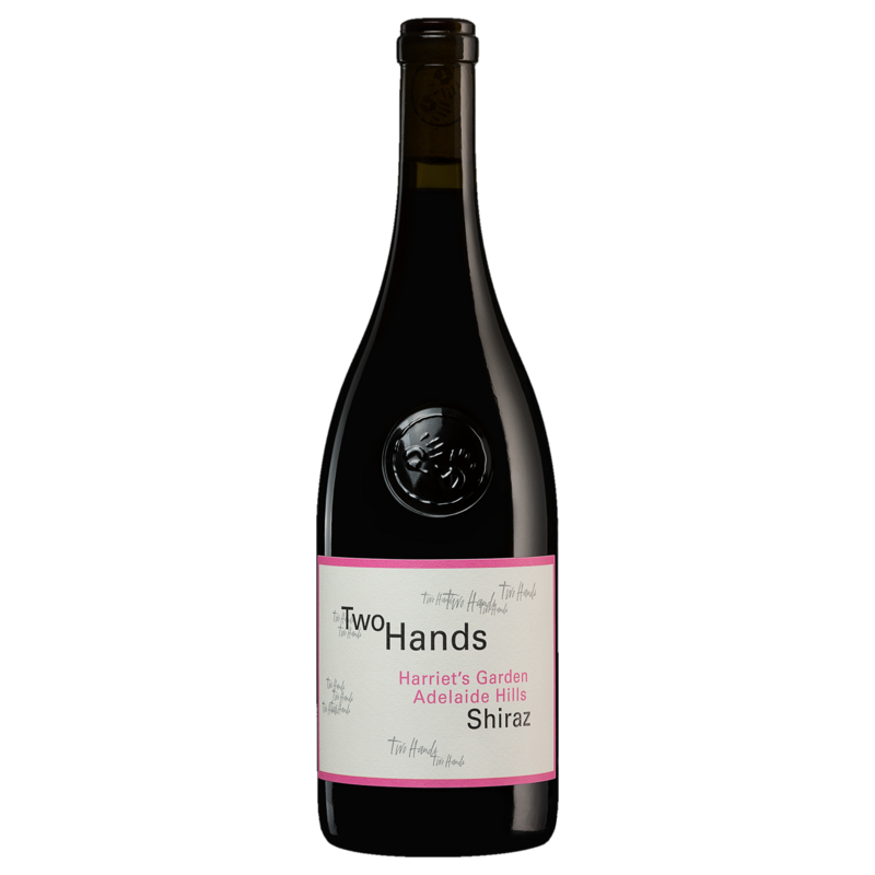 A bottle of 2018 Two Hands Harriet's Garden Shiraz wine - ITM44713