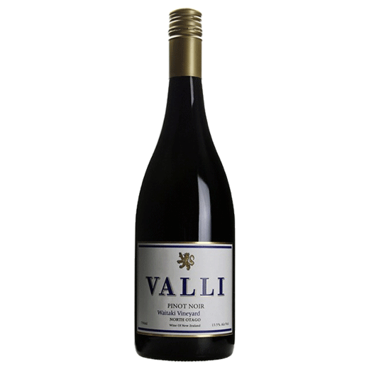 A bottle of 2017 Valli Vineyards Waitaki Vineyard Pinot Noir wine - ITM43220
