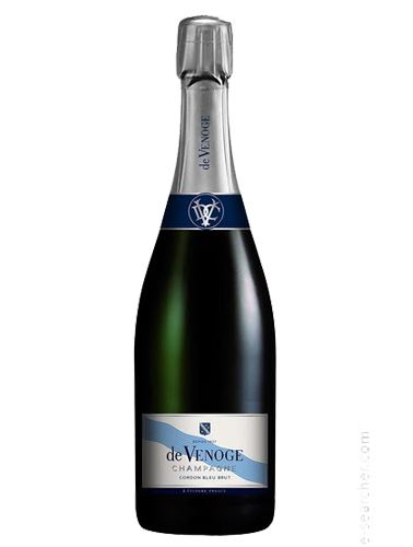 A bottle of NV Champagne de Venoge Cordon Bleu Brut wine - ITM23725